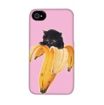 Banana Kitty iPhone case from Threadless